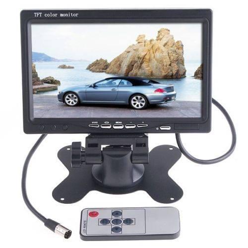 """Bilmonitor för mediaspelare och backkamera, färg, 7"""" TFT LCD"""