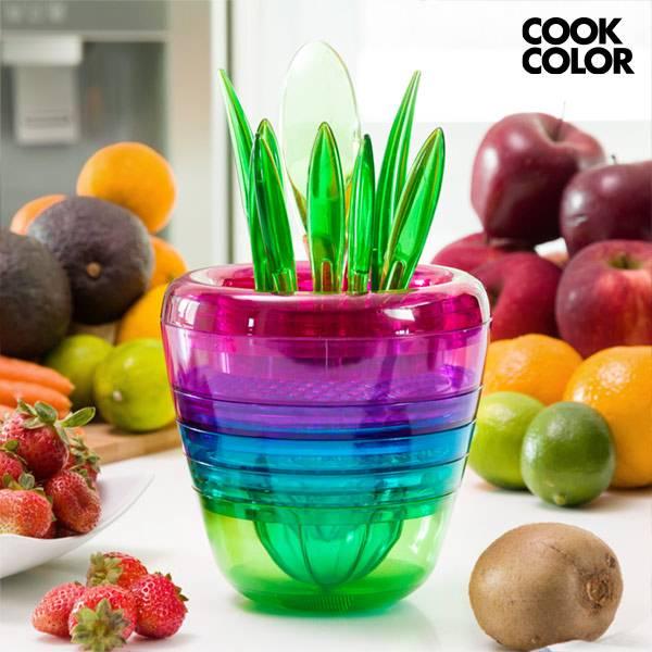 Stapelbara köksredskap Multi Tool Fruit Cook Color