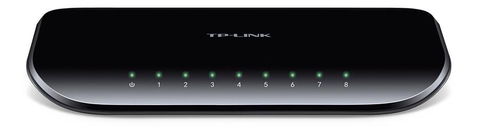 TP-LINK, nätverksswitch, 8-ports 10/100/1000Mbps, RJ45