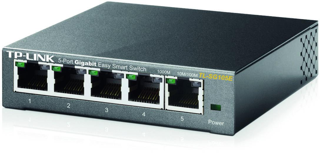 TP-Link nätverksswitch 5x10/100/1000Mbps RJ45, VLAN, QoS, IGMP