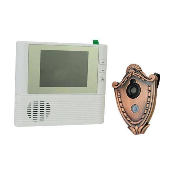 Dörröga med digitalkamera / titthålskamera, ringklocka och en 2,8 tums TFT-skärm