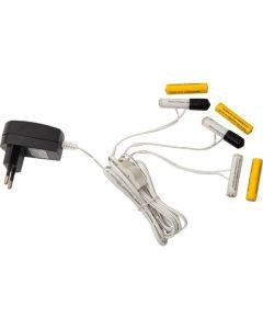 Batterieliminator, 3x utgångar för enheter med 2x AAA