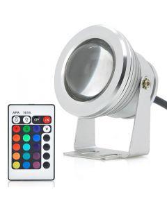 10W utomhus RGB LED-lampa, färgskiftande med handkontroll