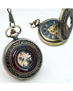 Steampunk Pocket Watch, Brons / Trä
