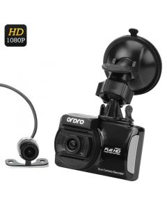 Ordro Q503 FullHD dashkamera med 2 kameror, Display, 3 axis G-Sensor, Loop recording, Rörelsedetektion