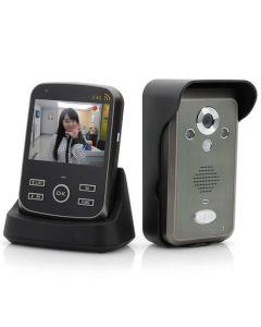Trådlös videoporttelefon med PIR-rörelsedetektor, 3,5-tums övervakningsm