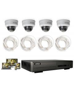 Komplett FullHD-paket med fyra IP-kameror för utomhusbruk och 4-kanalig NVR