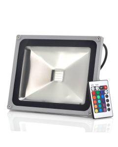 30W RGB FärgLED-strålkastare, vattentät med fjärrkontroll