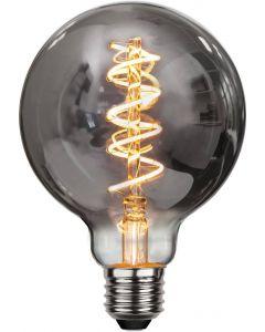 Heavy Smoke LED-Lampa, 4W, 2100K, E27, G95, flexifilament, dimmerkompatibel