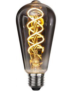 Heavy Smoke LED-Lampa, 4W, 2100K, E27, ST64, flexifilament, dimmerkompatibel