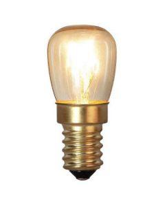 Ugnslampa med varmvit färg. Sockel E14.