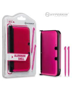 3DS XL Aluminum Shell with 2 Stylus Pens (Pink) - Hyperkin