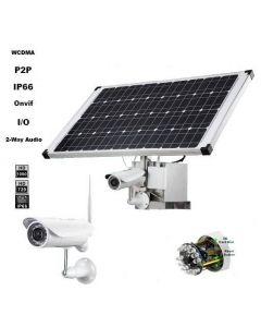 3G Kamera med solcellspanel för övervakning, utomhuskamera