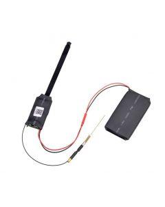 Trådlös IP-knapphålskamera, 1080x720, 90°, WiFi, mikrofon, 4000mAh