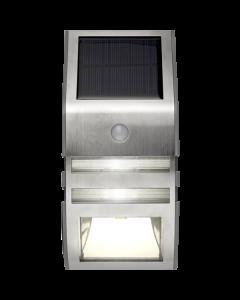 Wally, Solcellsdriven LED vägglykta, PIR-sensor, varmvit