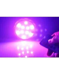 4 LED-cirkellampor, färgsskiftande