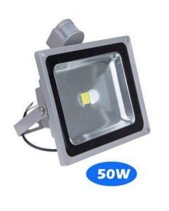 50W LED strålkastare med rörelsesensor, vattentät