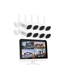 1296P Trådlöst övervakningspaket, 8st trådlösa övervakningskameror, utomhus, 13