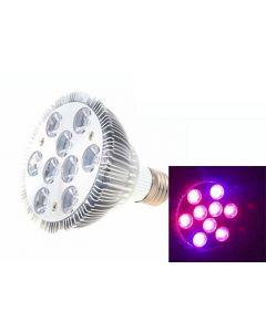 9W e27 led Växtlampa