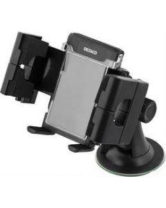 DELTACO hållare för smartphone i bilen, justerbart fäste med sugpropp, 3