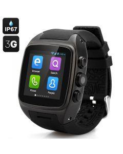 Androidwear M14S Vattentät smart 3G Android mobilklocka, IP67