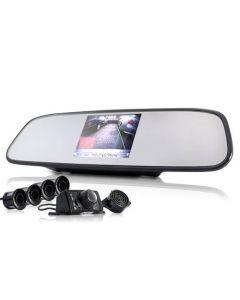 Backspegel, med backkamera & 4st backvarningssensorer