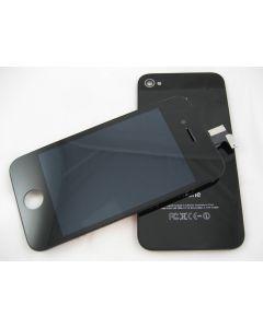 Baksida + display med Touchscreen  till svart iPhone 4S