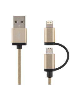 DELTACO PRIME USB-synk-/laddarkabel (guld)