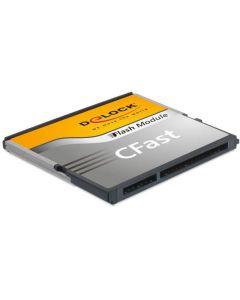 DeLOCK CFast2.0 Flash kort, 64GB, läs 310MB/s, skriv 150MB/s, grå