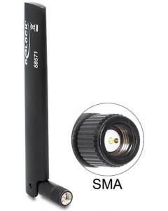 DeLOCK LTE antenn, GSM/UMTS/WLAN/Bluetooth, SMA ha, svart