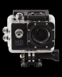 Sportkamera, 720p, vattentät 30m, micro-SD kortplats, svart