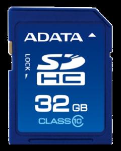 ADATA minneskort, SDHC, 32GB, UHS speed class 1 ,speed class 10, blå