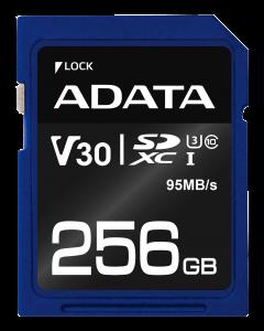 ADATA UHS-I U3 V30S 256GB SDXC R/W: 95/60