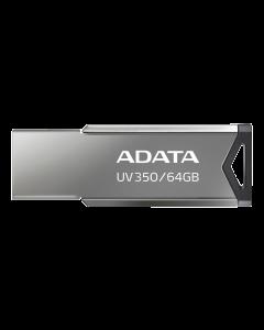 ADATA UV350 - USB-flashenhet - 64 GB - USB 3.2 Gen 1 - silver