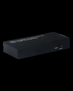 AHD/TVI/CVI 1-4 Splitter, 1xAHD/CVI/TVI inp, 4xAHD/CVI/TVI outp,svart
