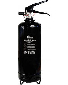 Nexa brandsläckare, SVART, 2kg ABC-pulver, väggfäste