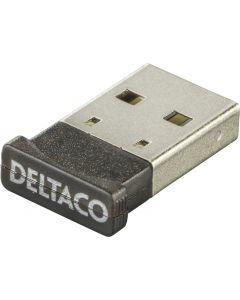 DELTACO Bluetooth 4.0 adapter, USB 2.0, CSR 4.0, 3 Mb/s, svart