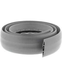 Aidata CM09, kabelkanal i gummi med plats för tre kablar, 1,8m, grå