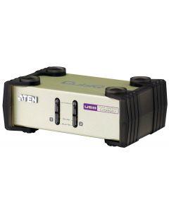 ATEN KVM-switch, 1 konsol styr 2 datorer, OSD, USB & PS/2