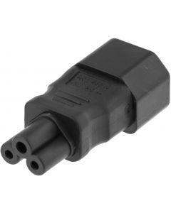 DELTACO Srömadapter, IEC 60320 C14 till IEC 60320 C5, 250V/2,5A, svar