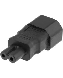 DELTACO Srömadapter, IEC 60320 C14 till IEC 60320 C7, 250V/2,5A, svar