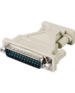 DELTACO AT-adapter DB9ho-DB25ha