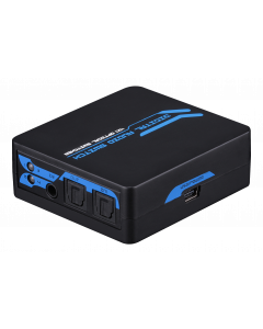 SPDIF/TOSLINK Digital Optical Audio 1x4 Switch, inkl fjärrk, svart