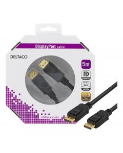 DELTACO DisplayPort monitorkabel, 20-pin ha - ha 5 m