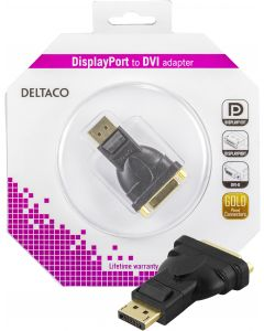 DELTACO DisplayPort till DVI-D Single Link adapter, ha - ho