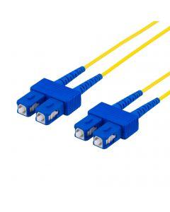 DELTACO fiberkablage SC - SC, duplex, singlemode OS2, 0,5m