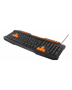 DELTACO GAMING tangentbord, anti-ghosting, USB, nordisk, svart/orange