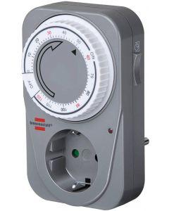 Brennenstuhl timer för jordade uttag, 2h, 230V/16A/3500W, grå/vit