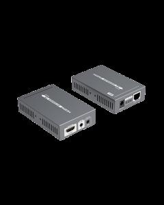 HDMI Förstärkare över Ethernet, 70m, PoE, HDBase T, svart