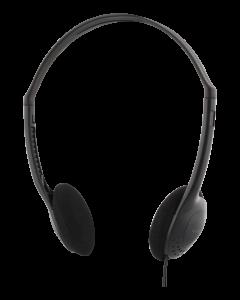 DELTACO, hörlur med volymkontroll, 2,2m kabel